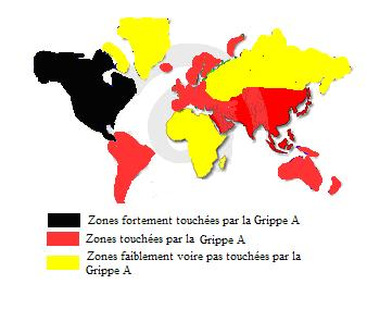 Repartition mondiale H1N1