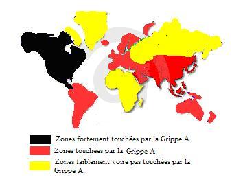 Repartition mondiale H1N1