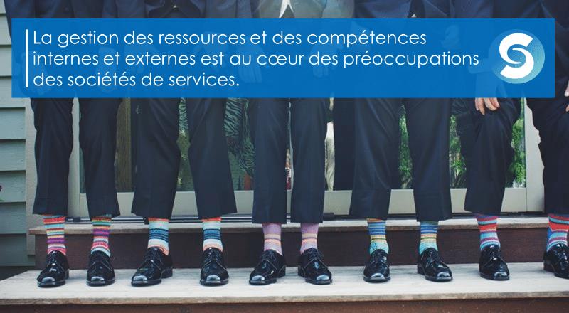 La gestion des ressources et des compétences internes et externes est au coeur des préoccupations des sociétés de services